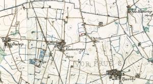 Kort tegnet ml 1842-99